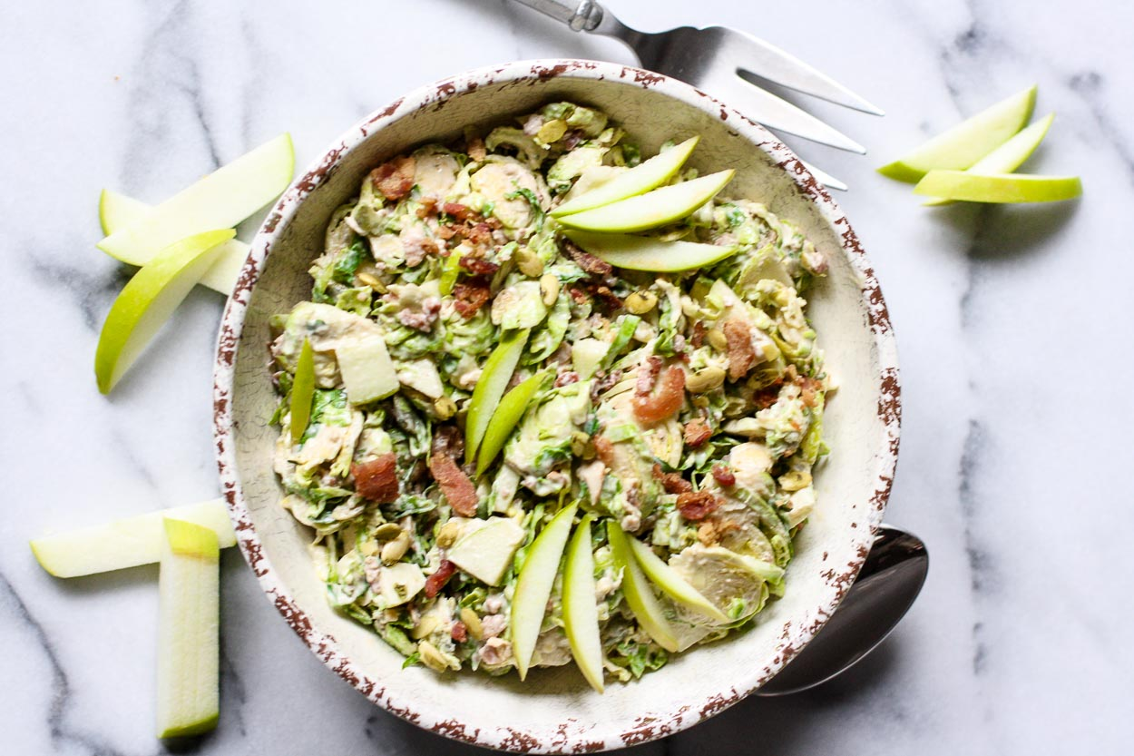 shaved brussels sprouts & apple salad
