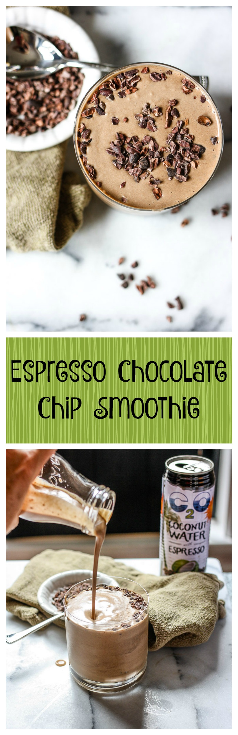 espresso chocolate chip smoothie