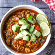 pork chili with bok choy