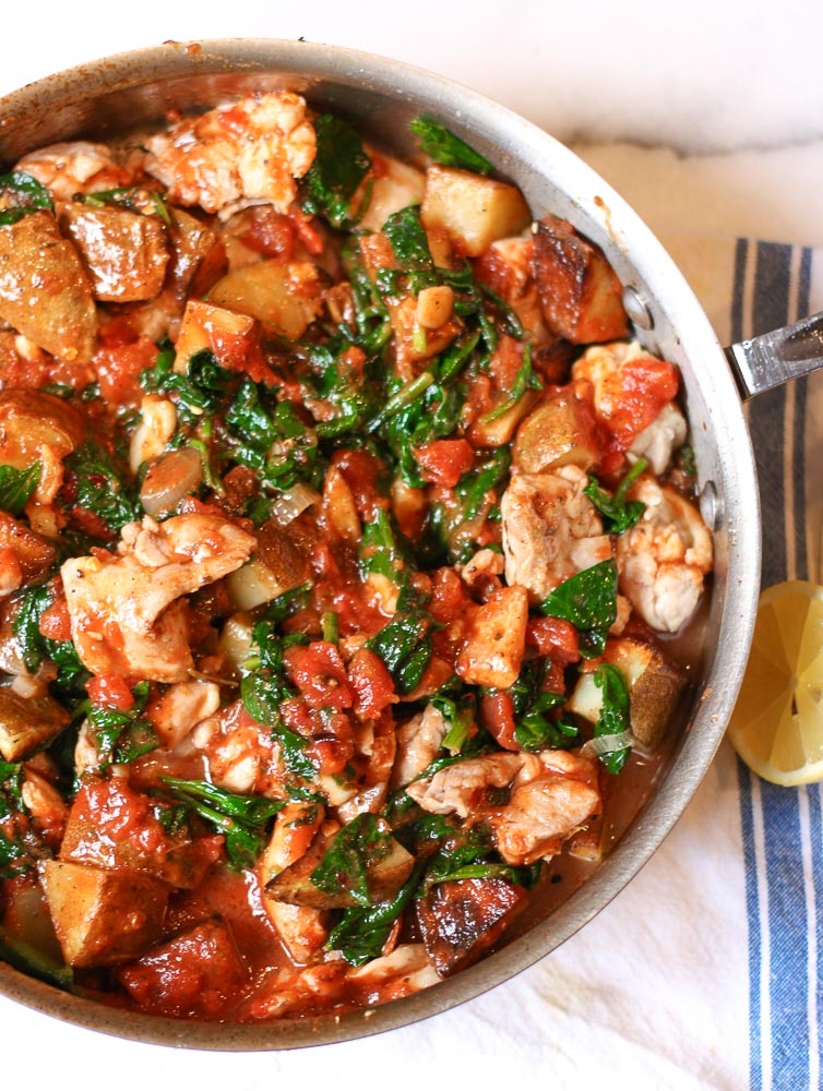 Chicken, Pesto, and Tomato Skillet Recipe | 12 Fresh Tomato Recipes To Enjoy The Most From Your Harvest